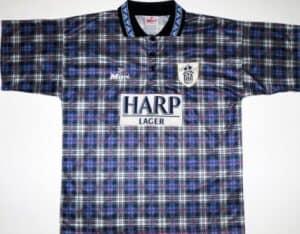 Grimme fodboldtrøjer - Notts County udebanetrøje 1994-95