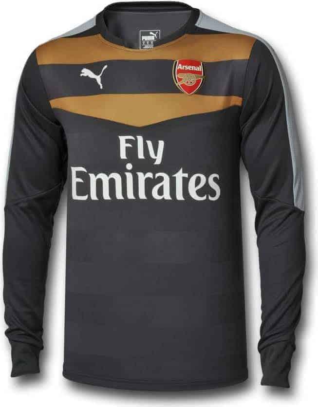 Arsenal målmandstrøje sort 2015-16
