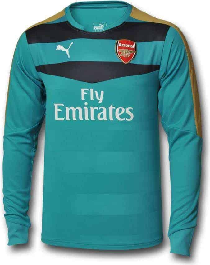 Arsenal målmandstrøje turkis 2015-16
