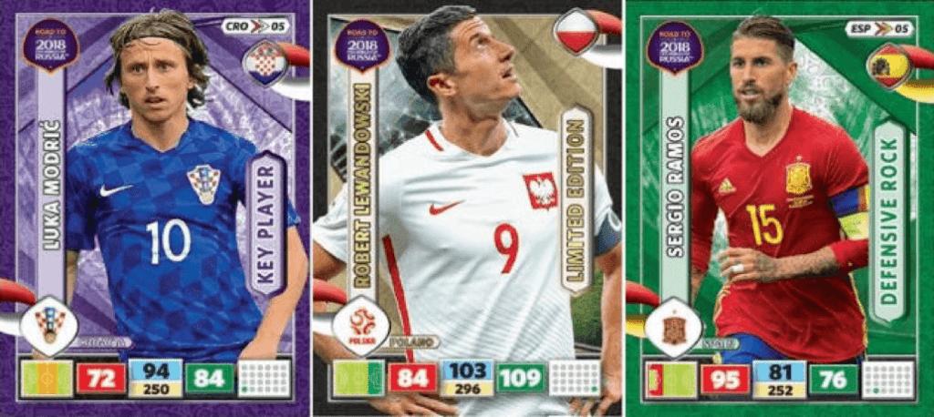Modric, Lewandowski, Ramos fodboldkort